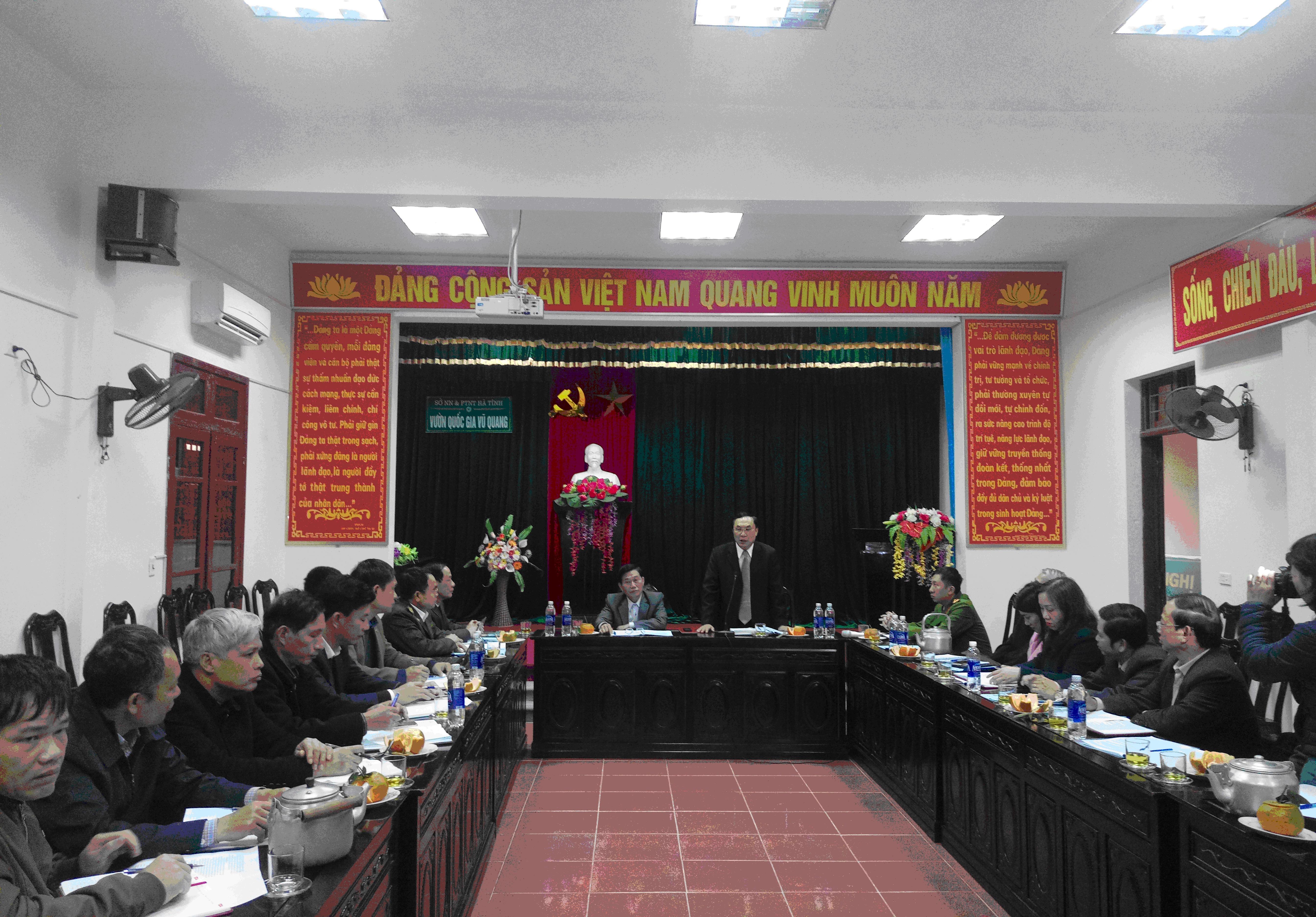 Ban Pháp chế Hội đồng nhân dân tỉnh làm việc tại Vườn quốc gia Vũ Quang
