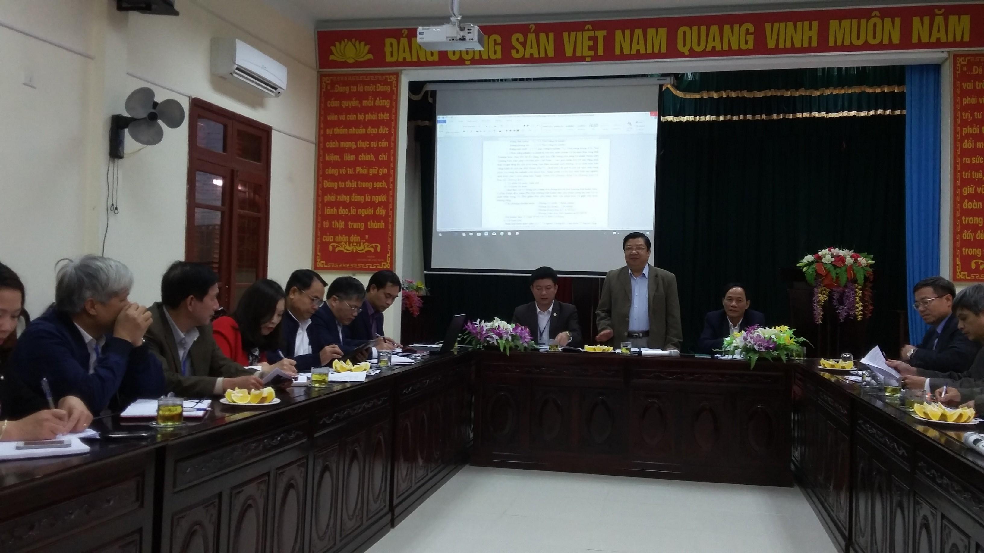 Tổng cục Lâm nghiệp làm việc với Vườn Quốc Gia Vũ Quang.