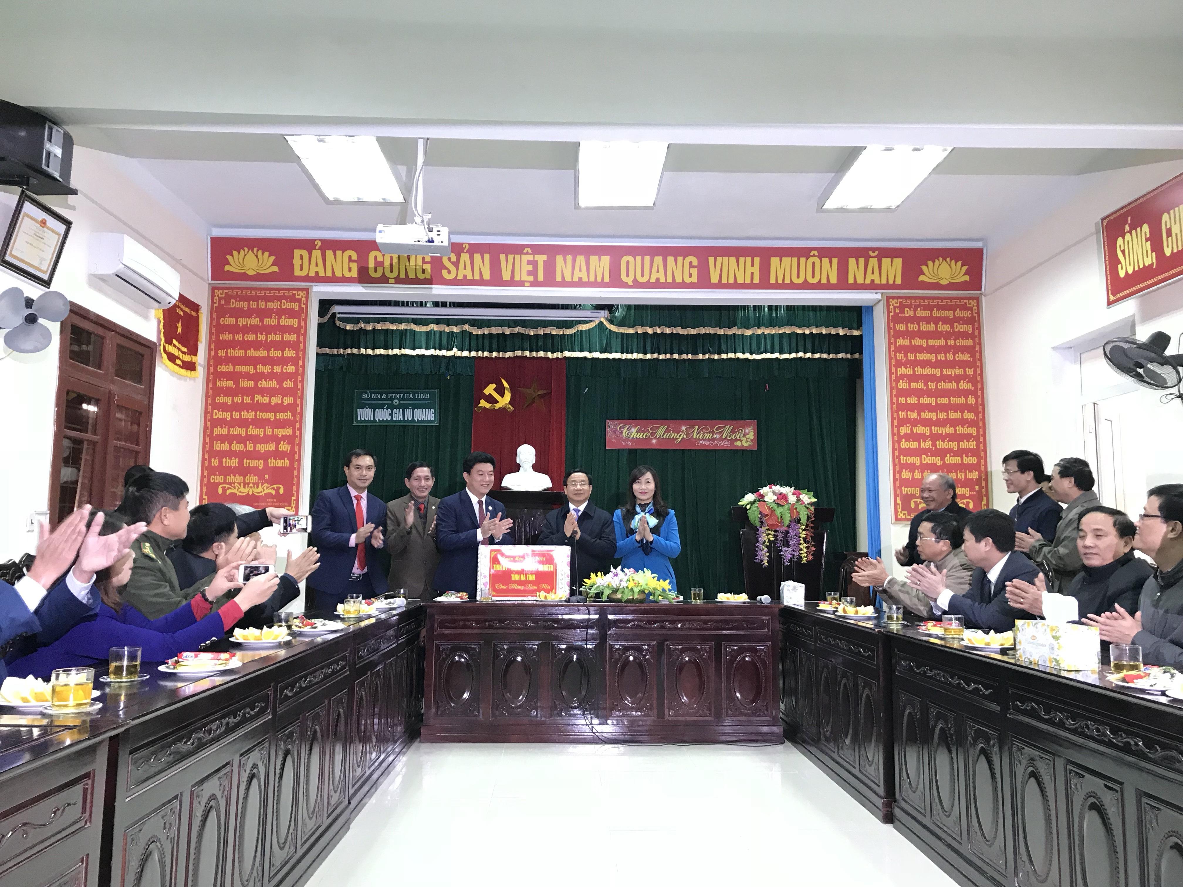 Bí thư tỉnh uỷ thăm và kiểm tra công tác BVR tại Vườn quốc gia Vũ Quang