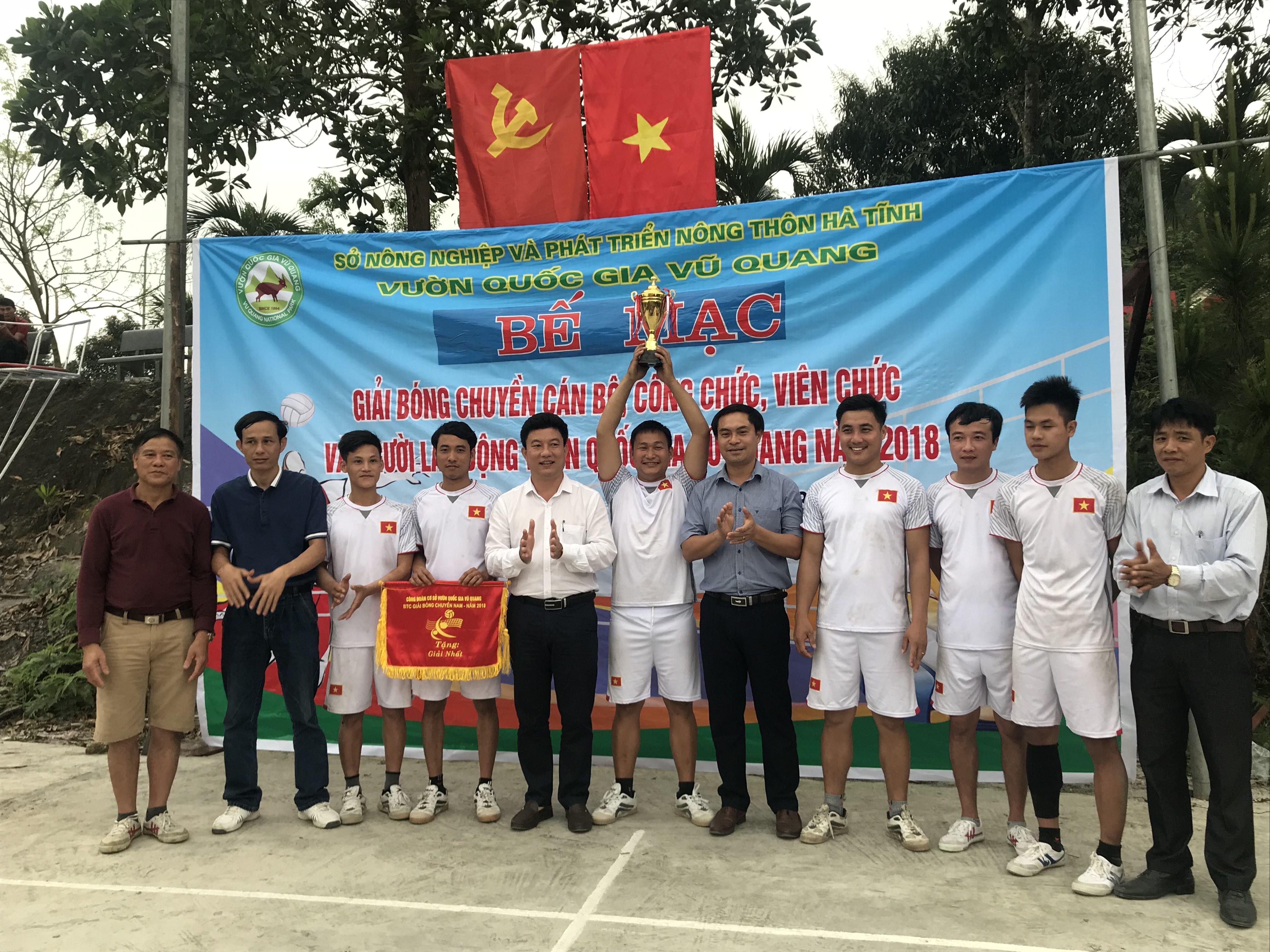 Vườn Quốc gia Vũ Quang tổ chức thành công Giải bóng chuyền đầu xuân