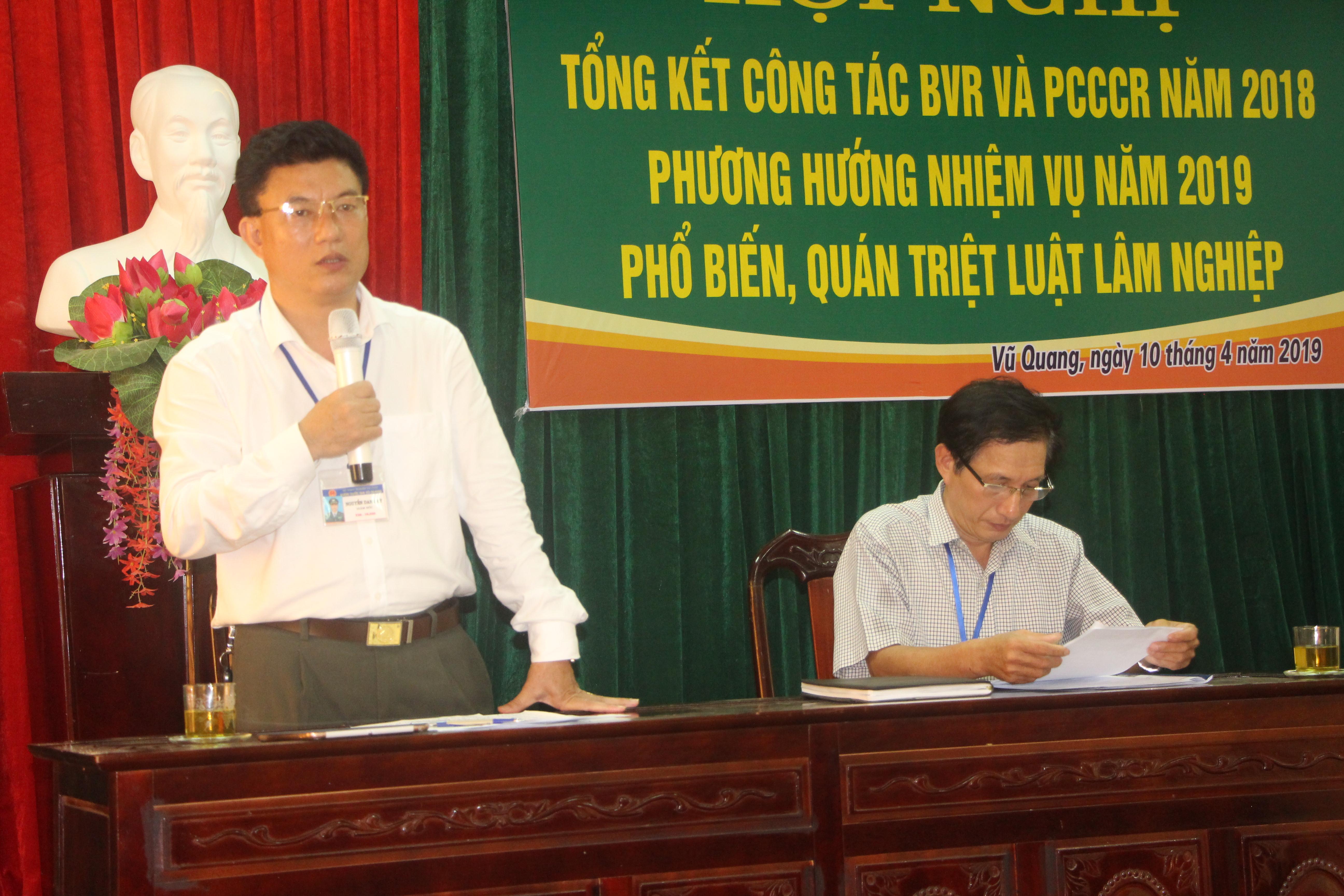Hội nghị Tổng kết công tác BVR-PCCCR năm 2018, phương hướng nhiệm vụ năm 2019
