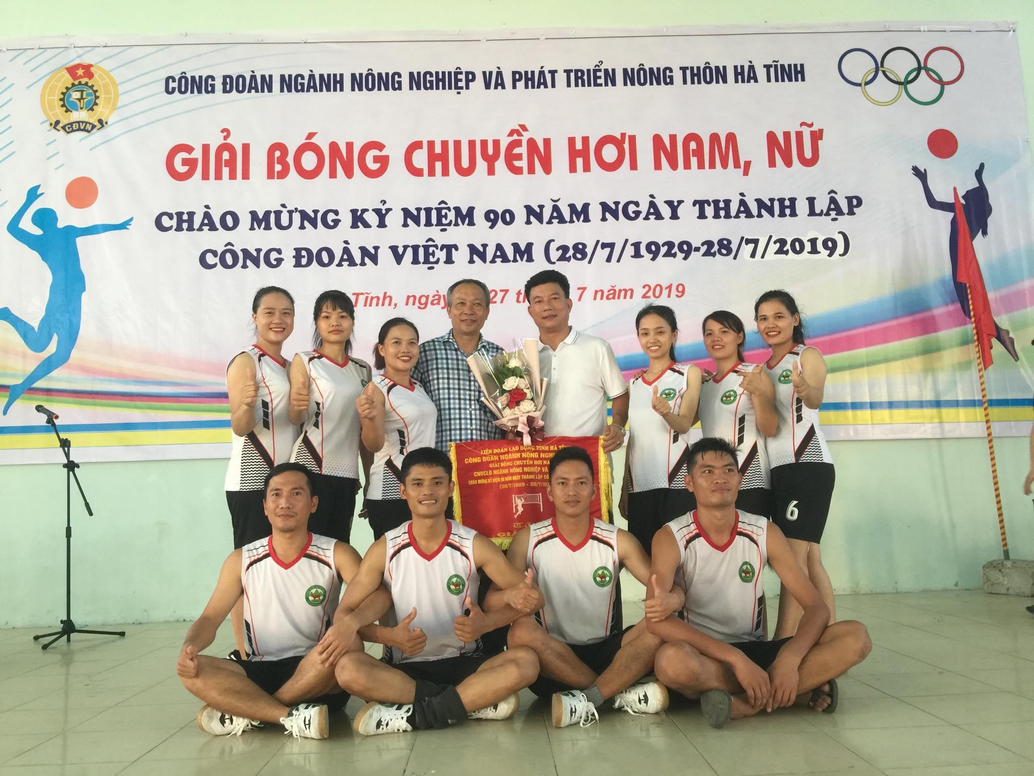 Vườn Quốc gia Vũ Quang vô địch giải bóng chuyền hơi nam nữ