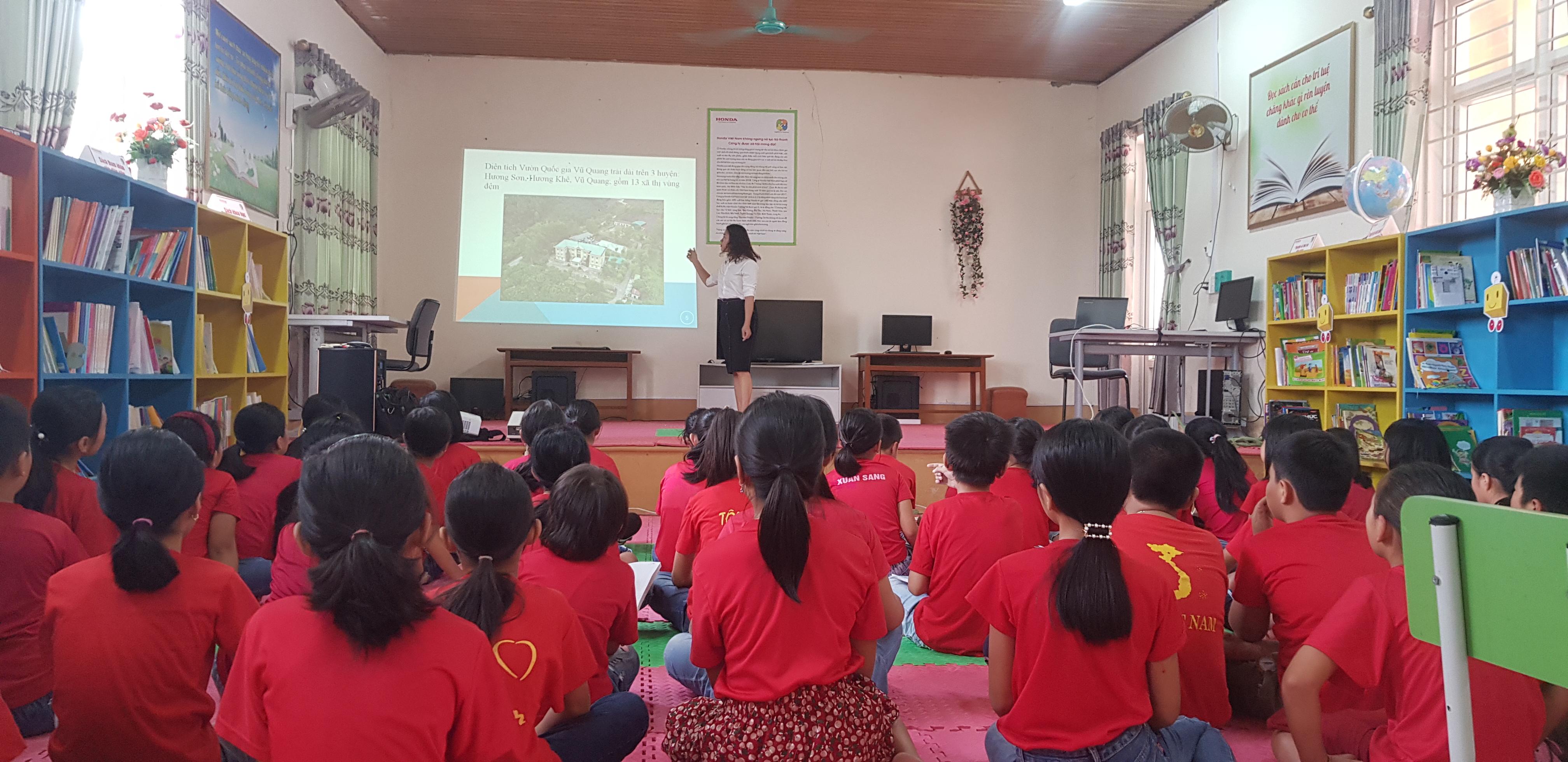 Vườn Quốc gia Vũ Quang triển khai công tác giáo dục môi trường năm học 2019 - 2020