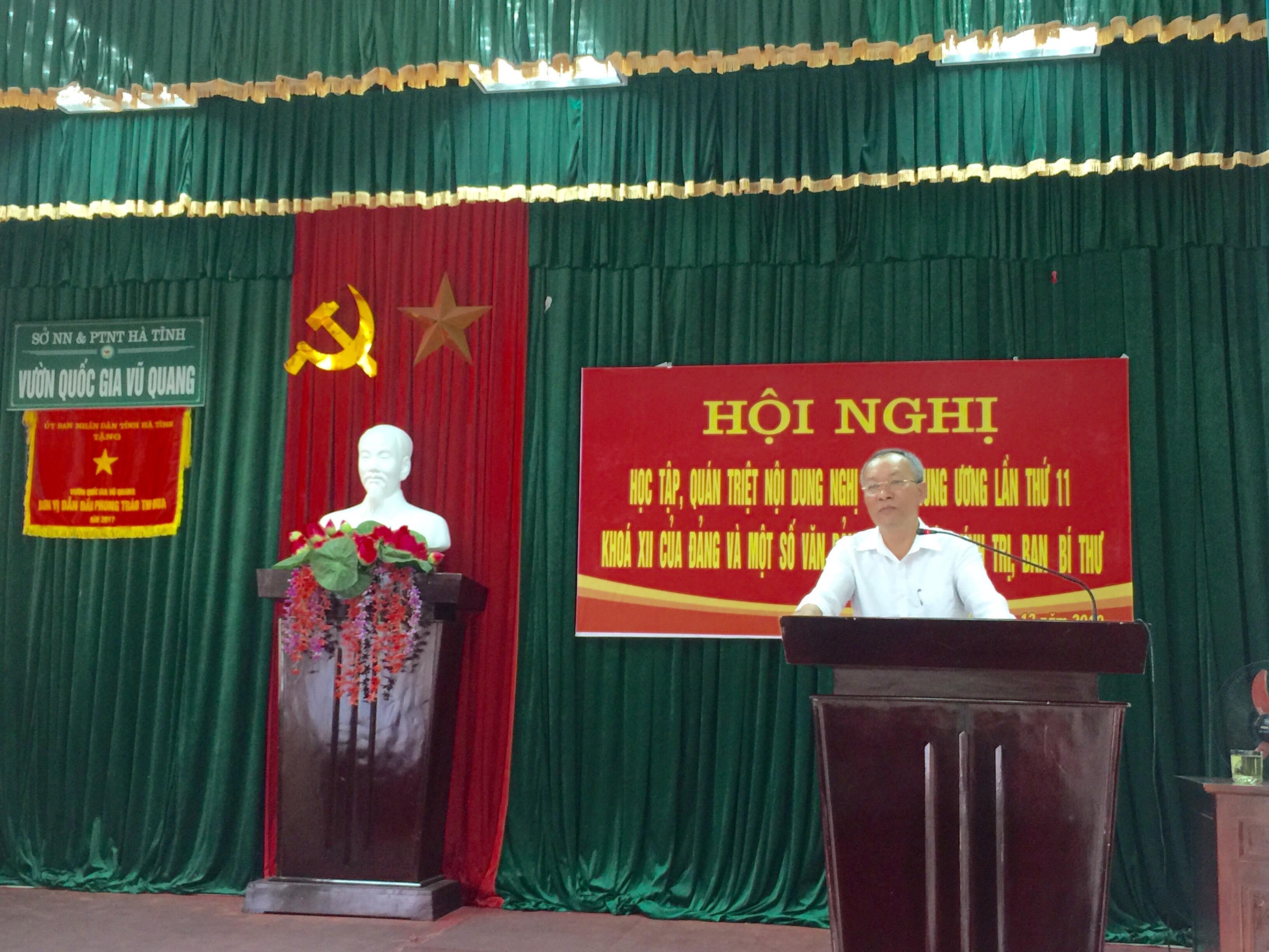 Hội nghị Học tập, quán triệt nội dung Nghị quyết TW lần thứ 11 khoá XII của Đảng và một số văn bản mới của Bộ chính trị, Ban bí thư