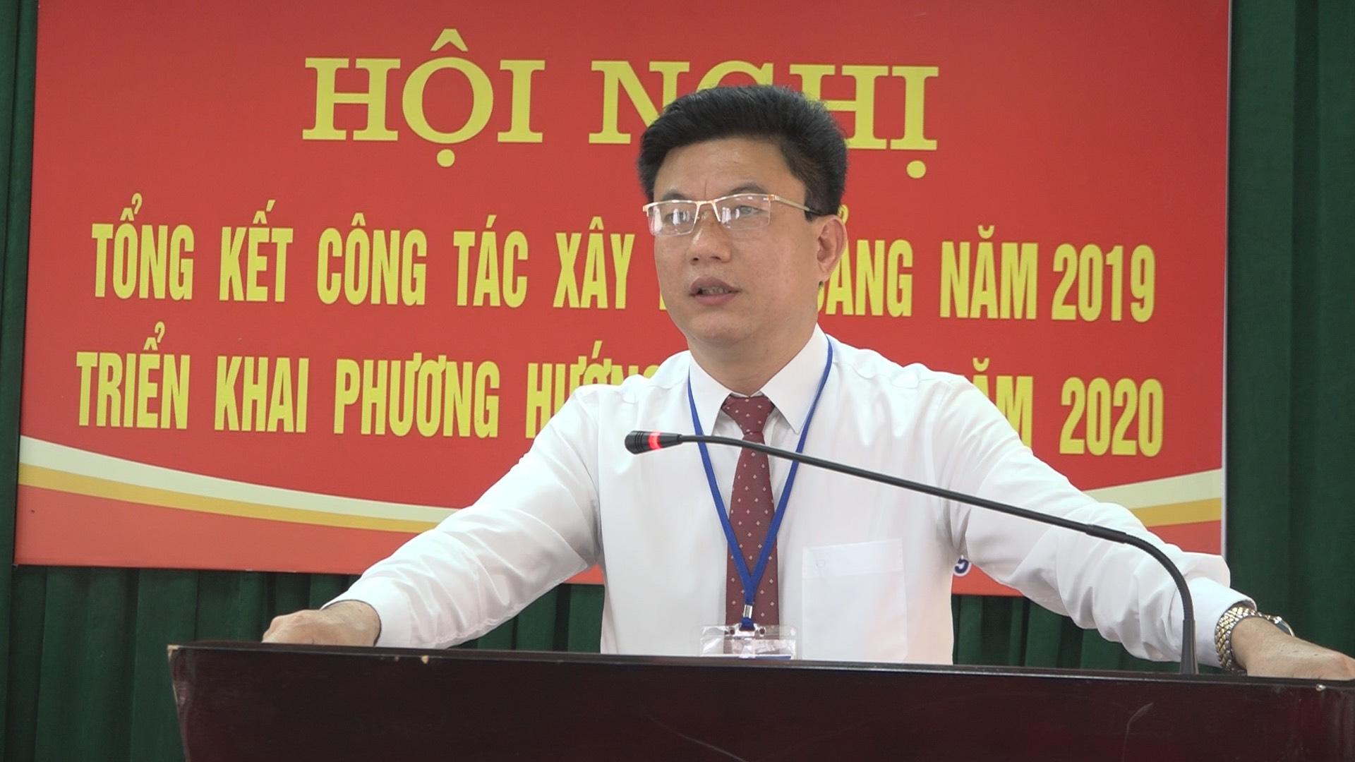 Hội nghị tổng kết công tác xây dựng Đảng năm 2019, triển khai phương hướng, nhiệm vụ năm 2020