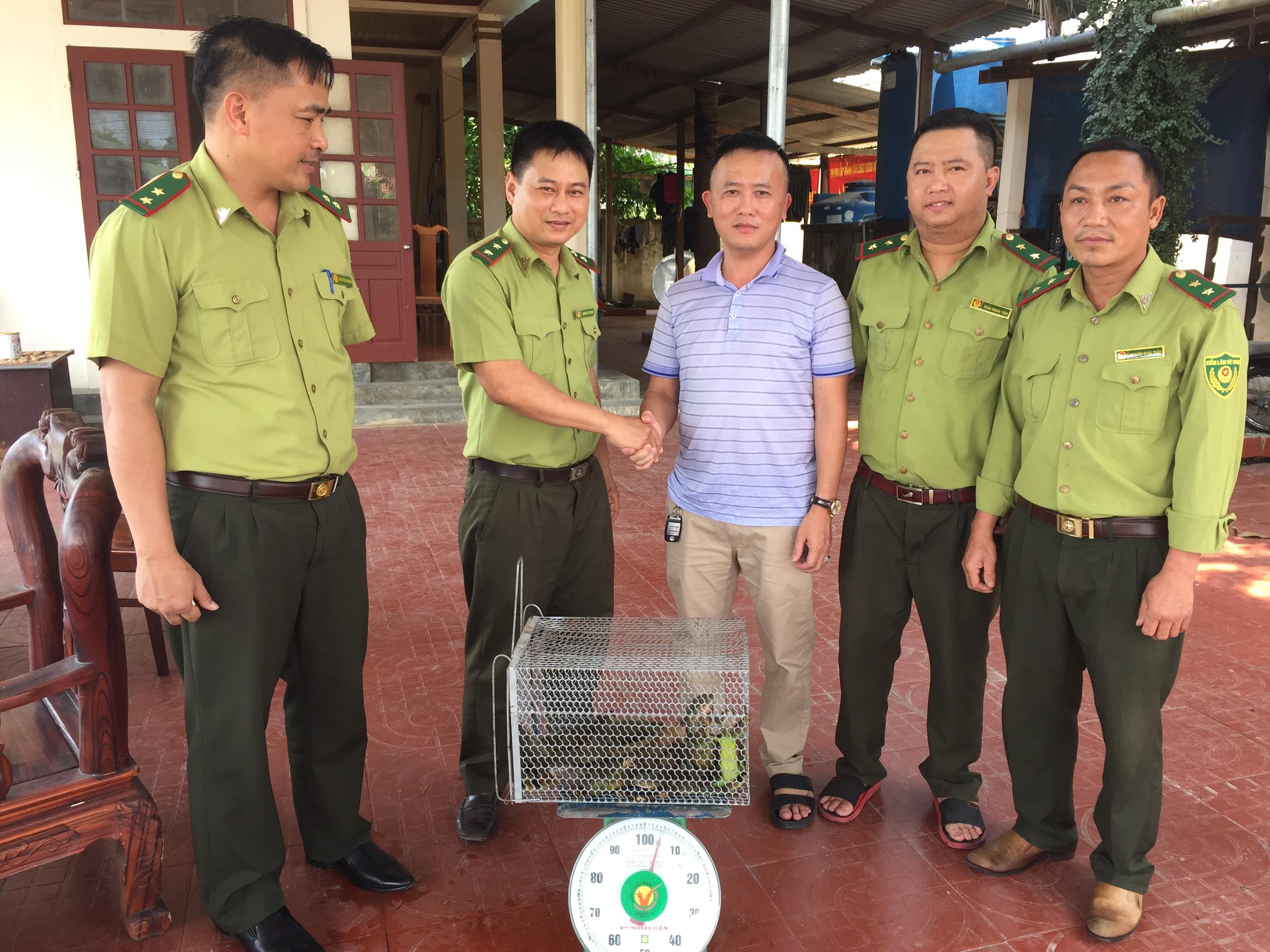 09 Cá thể Kỳ Nhông được bàn giao cho Vườn Quốc gia Vũ Quang